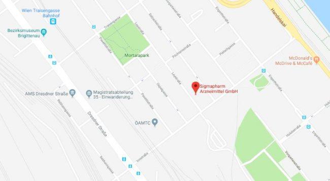Google Maps Standort Wien